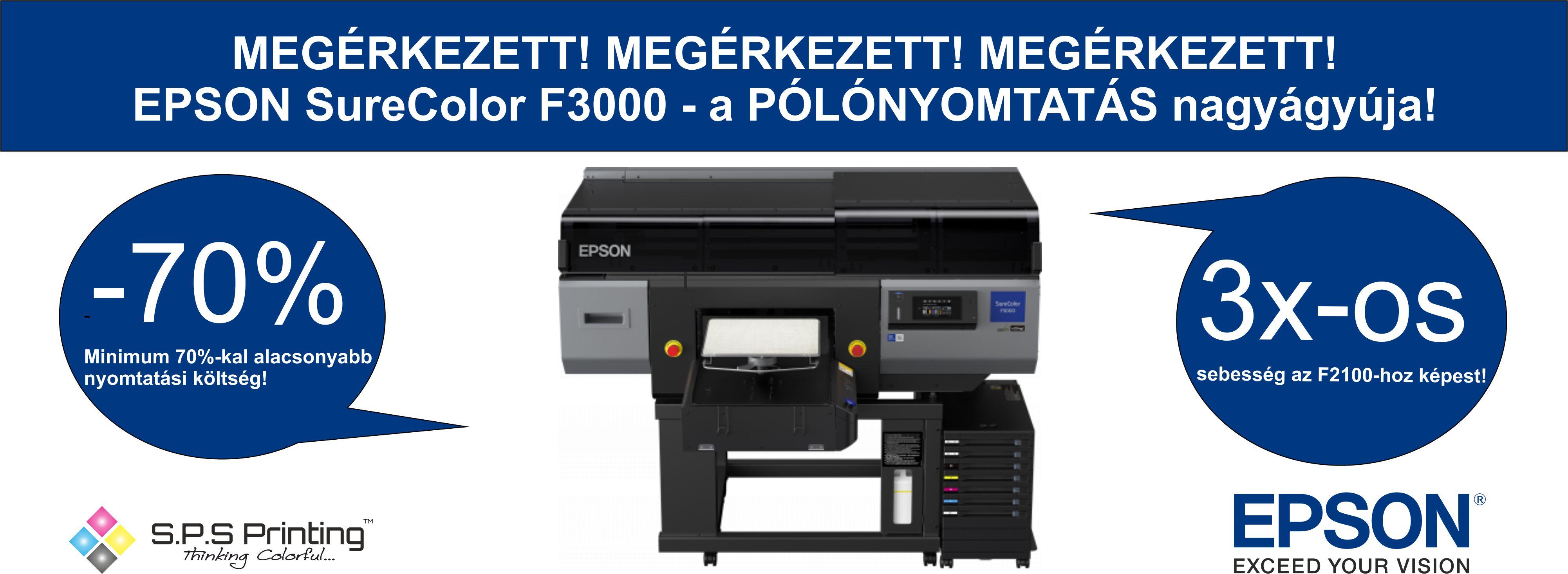 EPSON SureColor F3000 - a pólónyomtatás nagyágyúja!