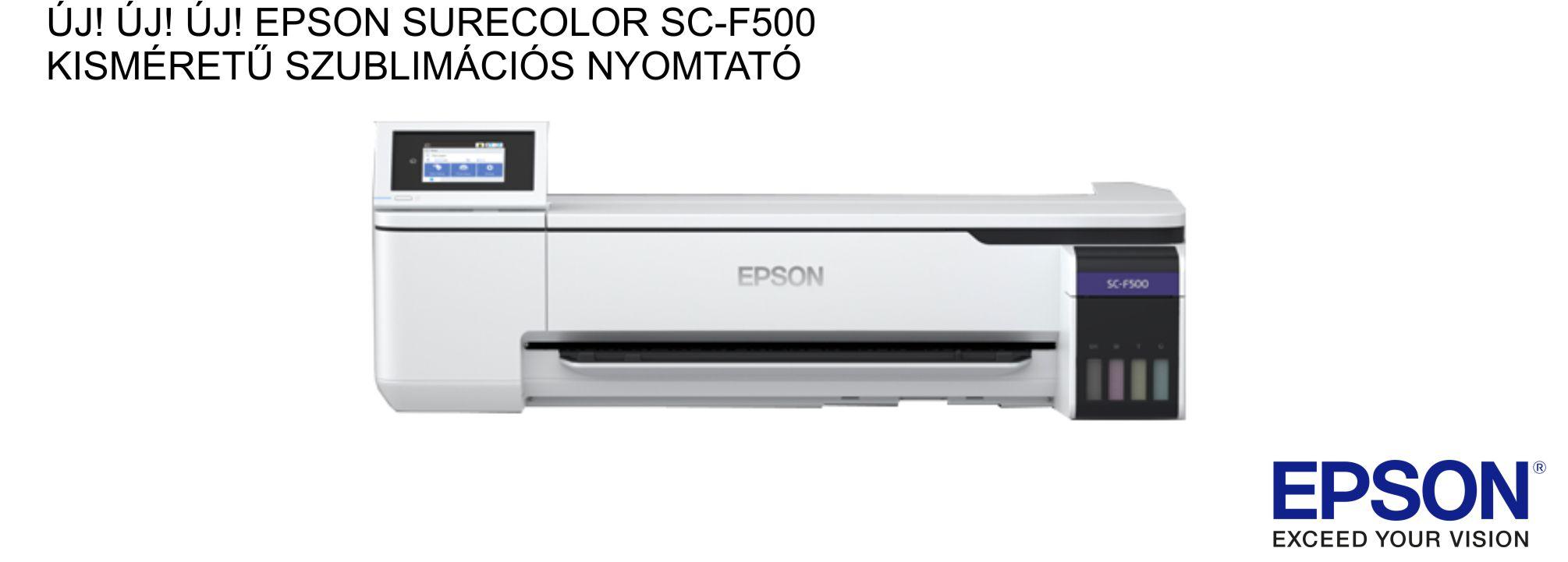 Epson SureColor SC-F500 KISMÉRETŰ SZUBLIMÁCIÓS NYOMTATÓ rendelhető!