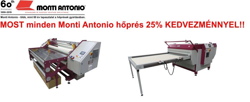 Monti Antonio hőprések MOST 25% KEDVEZMÉNNYEL!