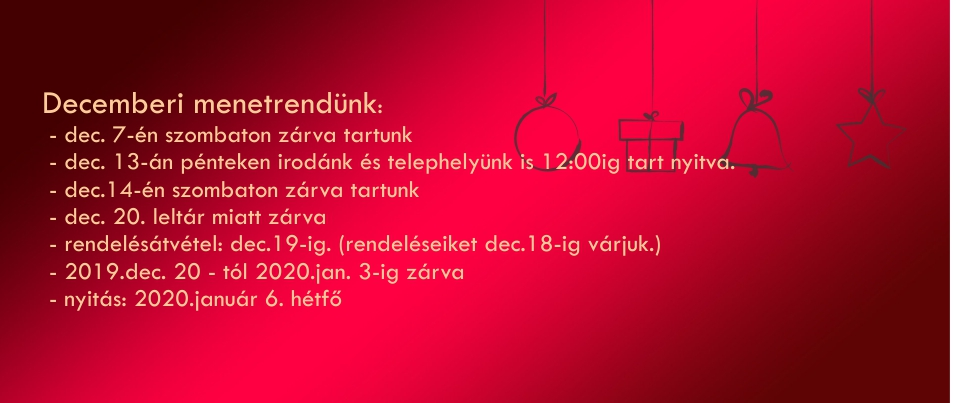 Decemberi menetrend