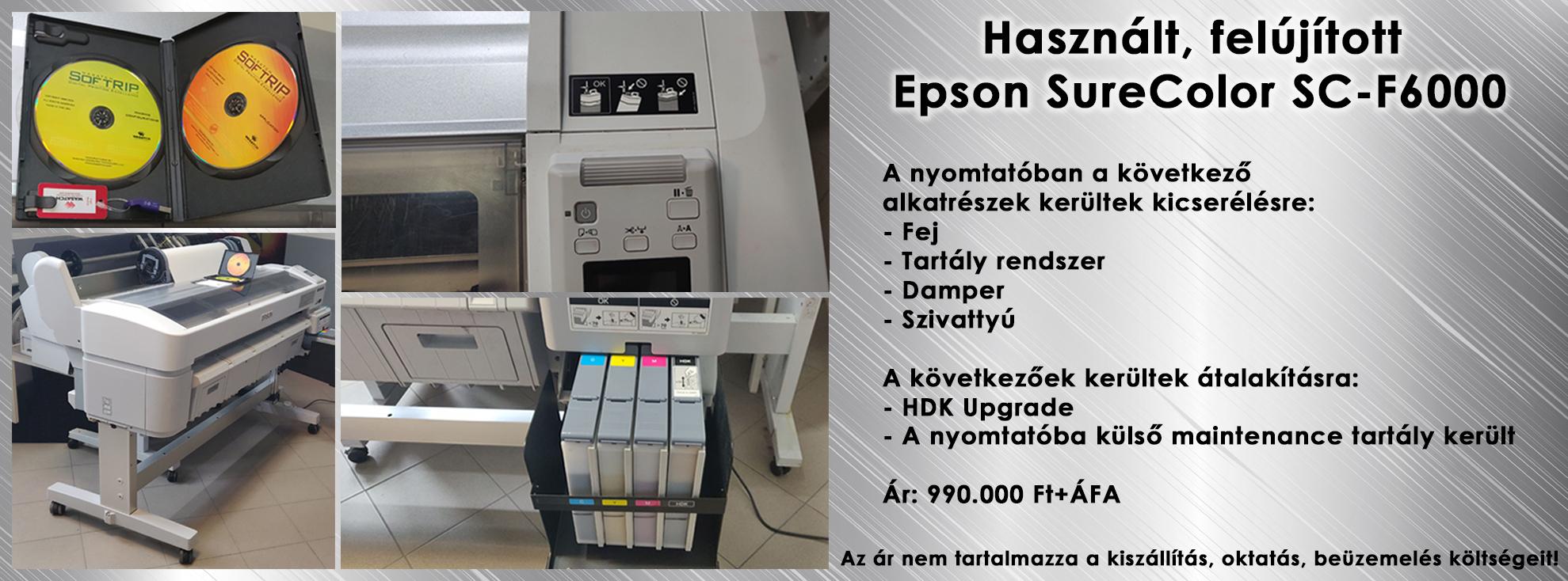 Használt Epson SureColor SC-F6000